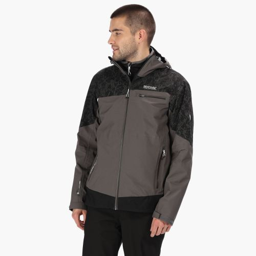 Men's Sacramento V Reflective 3 In 1 Jacket Magnet Grey Black